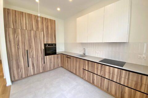 modern wooden white kitchen