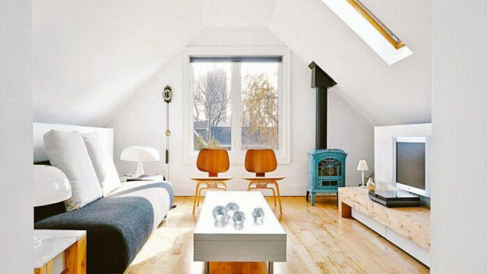 bright attic space