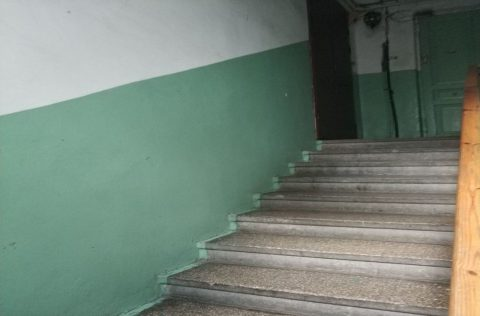 staircase of entrance Pyrohova 5