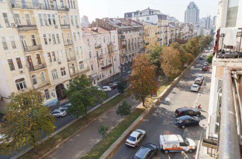 the view from balcony Antonovycha 10