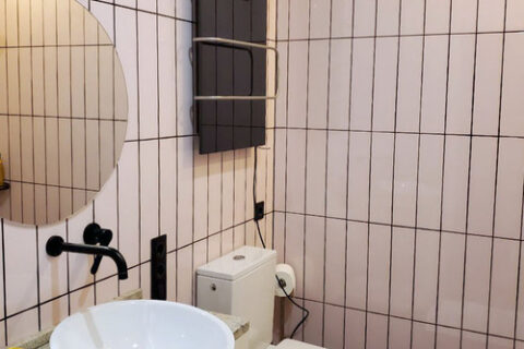 Toilet and dryer for towel