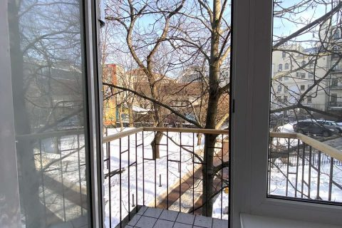 open balcony in bedroom