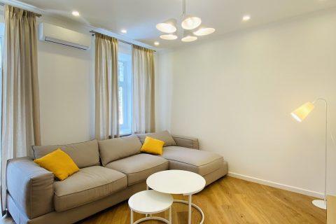 sofa and yellow pillow