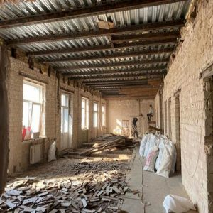 renovation process in old house